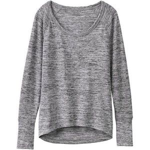 ATHLETA Shanti Jaspe Long Sleeve Gray Heather Tee